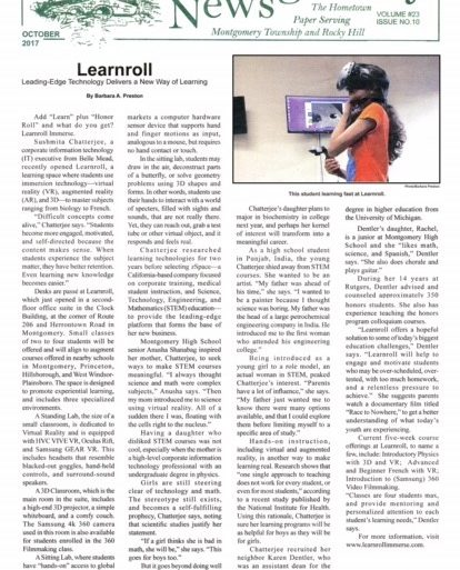 "MontyNews w 414x513 - Learnroll Immerse featured in ""The Montgomery News"""